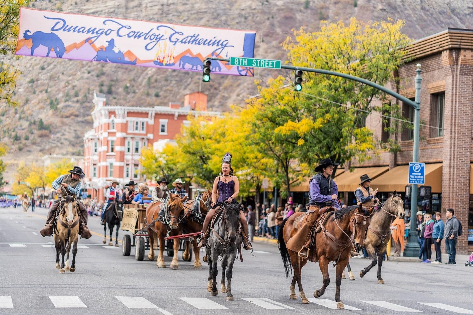 Image Durango Cowboy Gathering Parade in Colorado