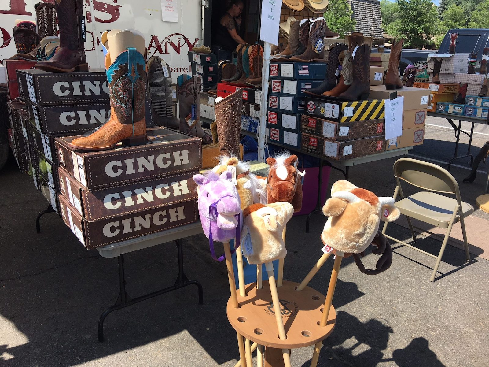 Image of a booth at the Durango Fiesta Days at the La Plata County Farigrounds