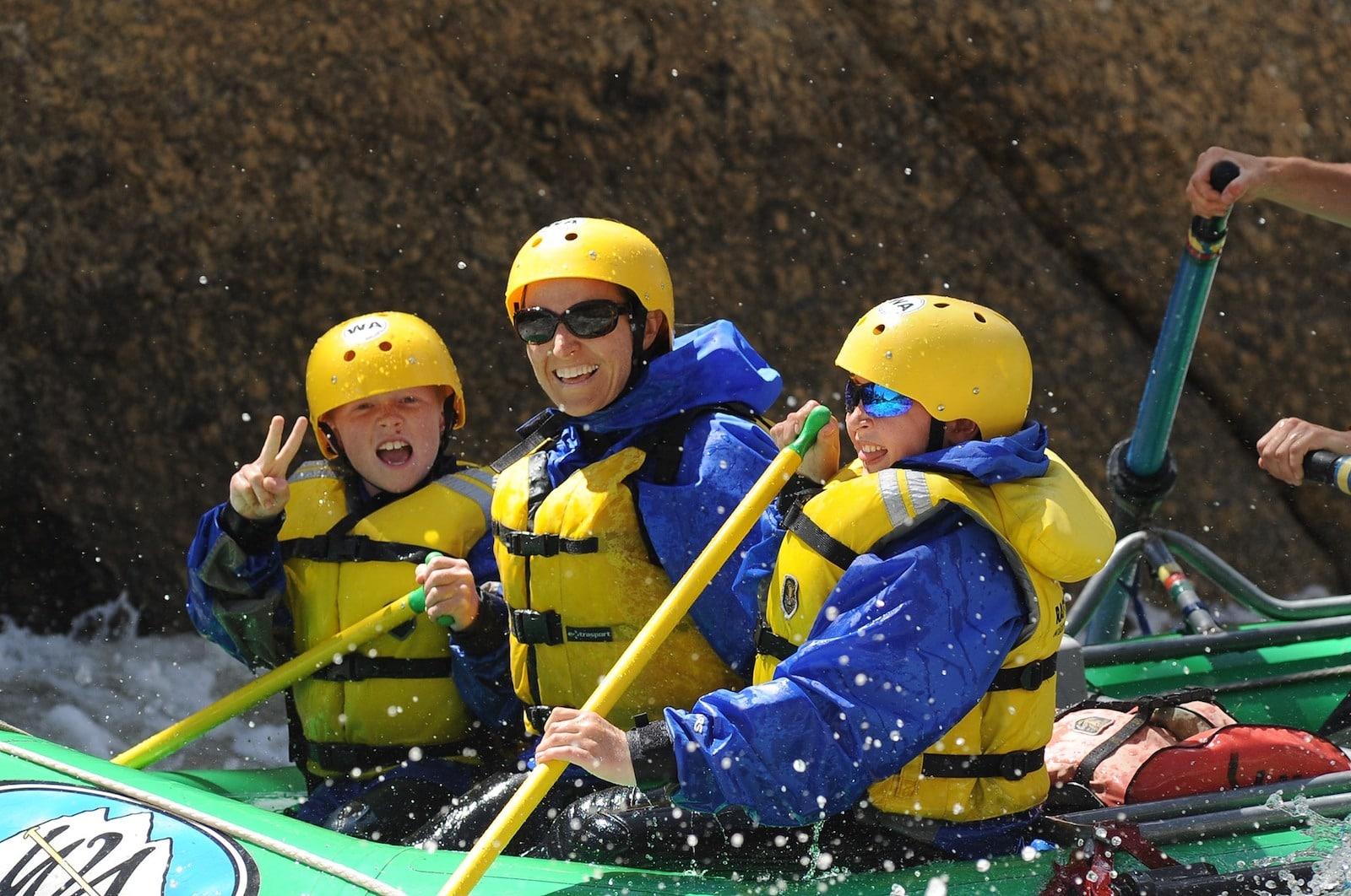 Image of people rafting at the Elk Mountain Dude Ranch in Buena Vista, Colorado