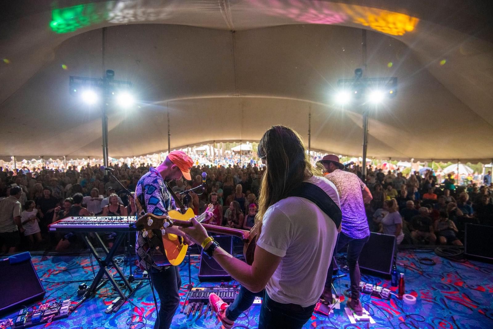 Image of The East Pointers playing at Four Corners Folk Festival in Pagosa Springs, Colorado