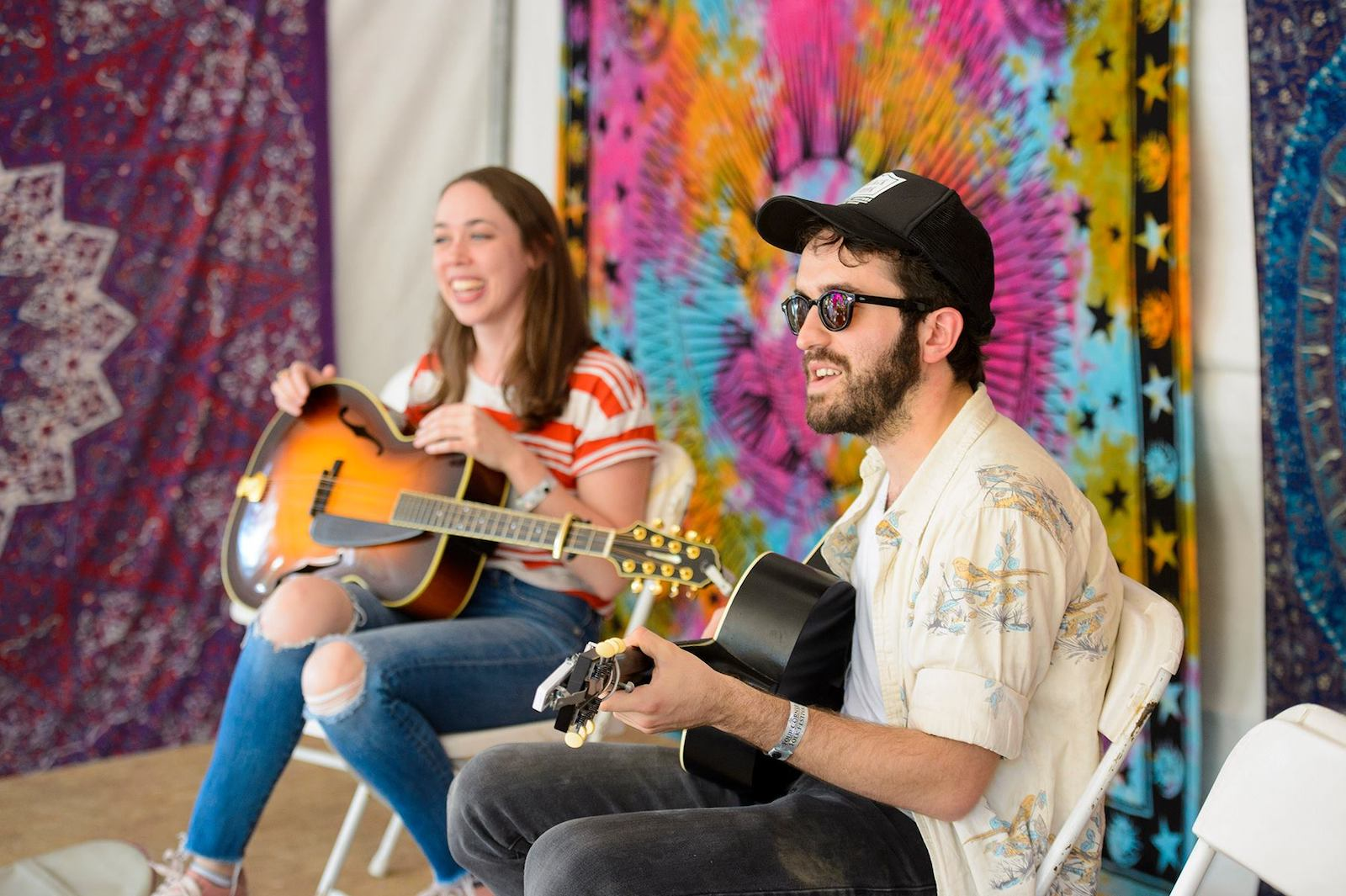 Image of a songwriting workshop at Four Corners Music Festival in Pagosa Springs, Colorado