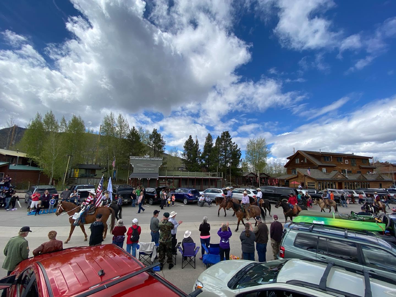 Image of the Memorial Day Parade in Grand Lake, Colorado
