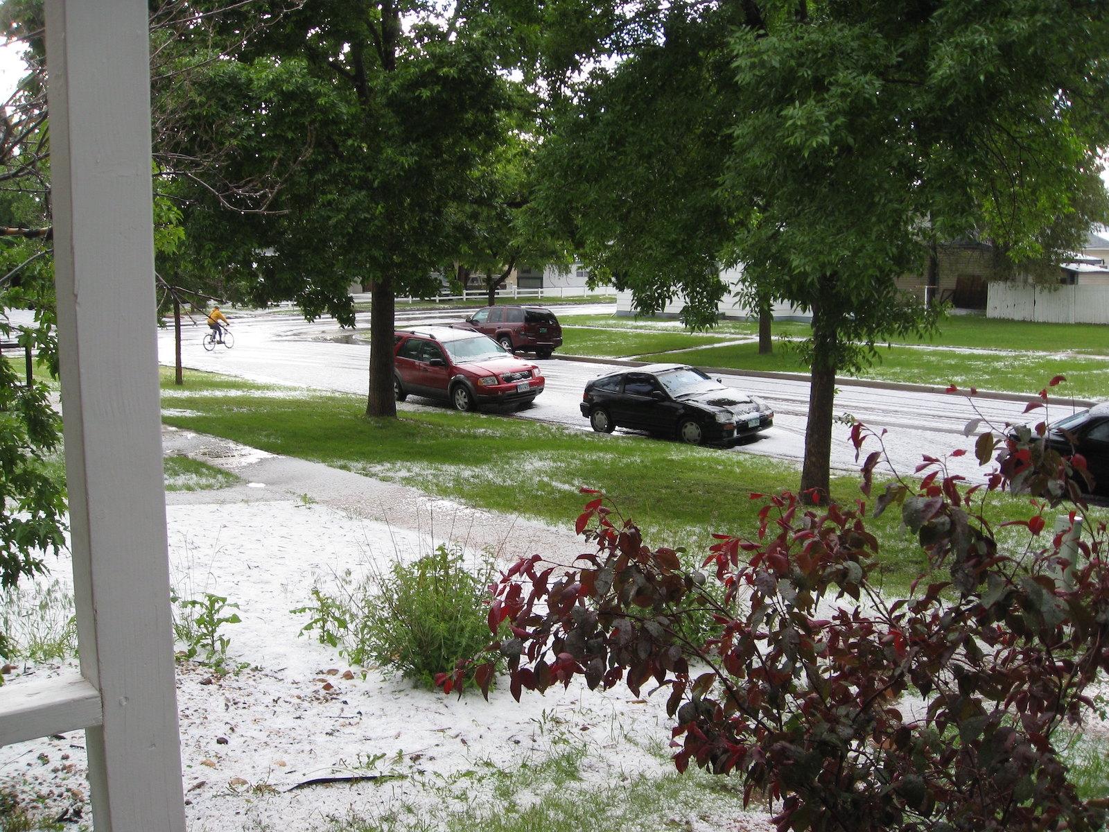 Gambar setelah badai hujan es di Colorado
