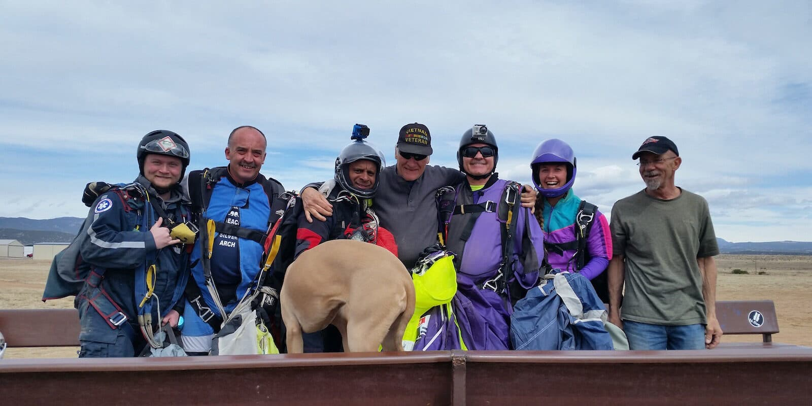 Image of the jump team from High Sky Adventures Parachute Club in Colorado