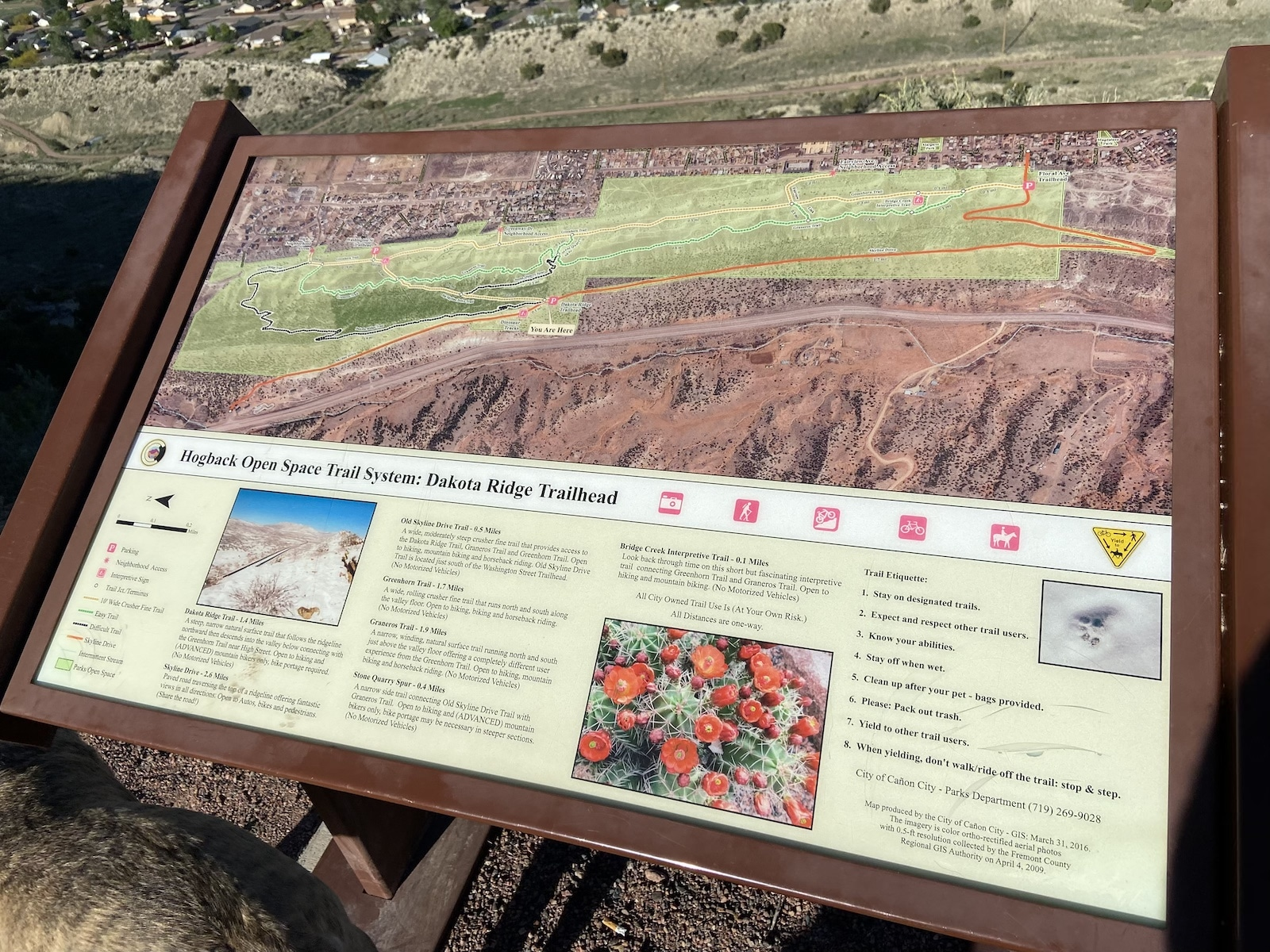 Hogback Open Space Map Canon City CO