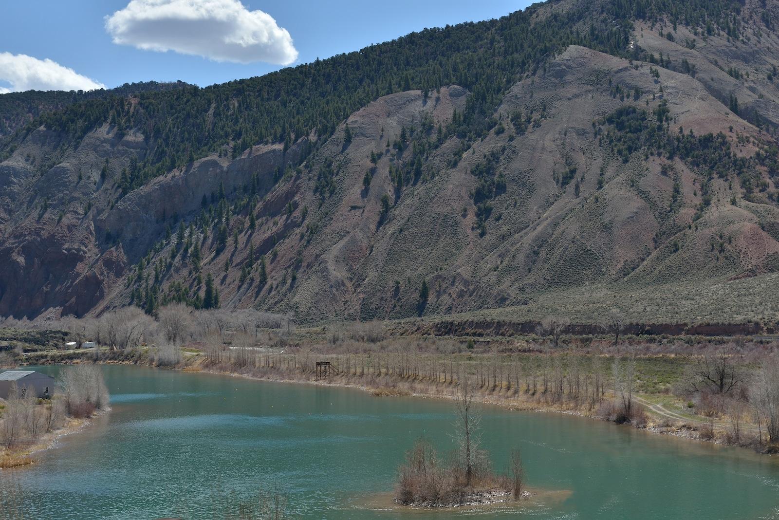 Lake at Confluence of Eagle River and Colorado River in Dotsero CO