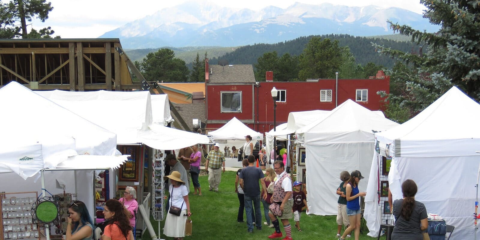 Image of the Mountain Arts Festival in Woodland Park, Colorado
