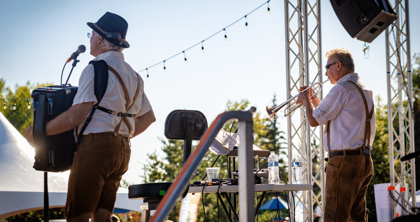 Image of bands playing at Parker Oktoberfest in Colorado