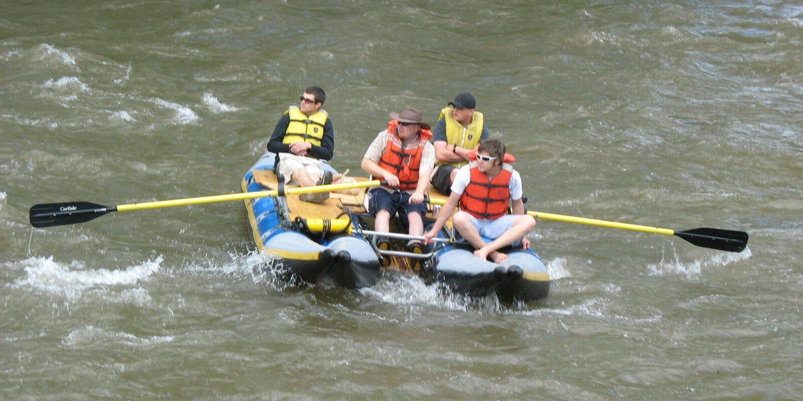 Image of people rafting in Durango