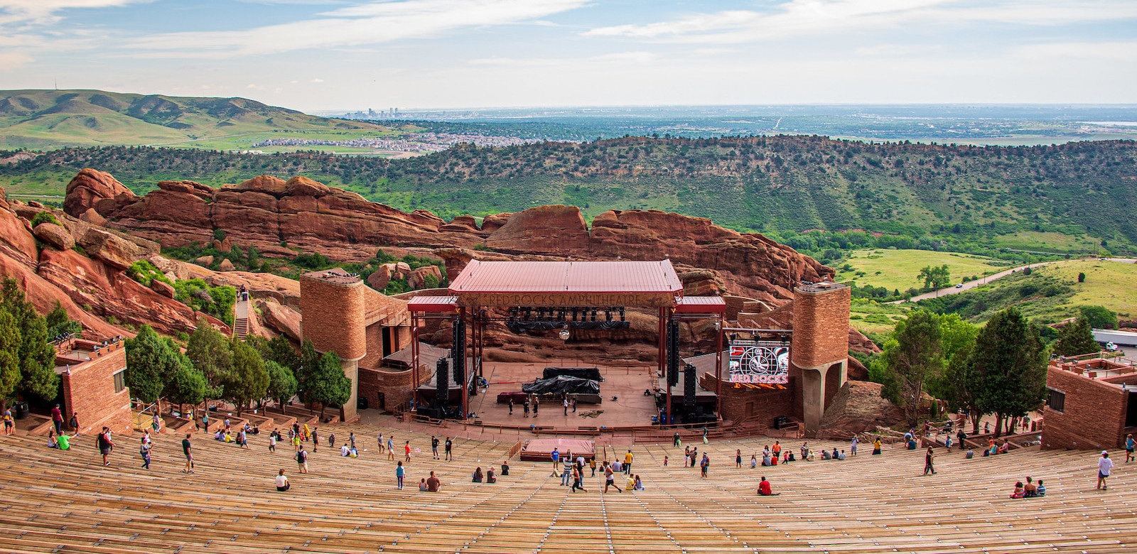 Image of the Red Rock Amphitheater in Morrison, CO