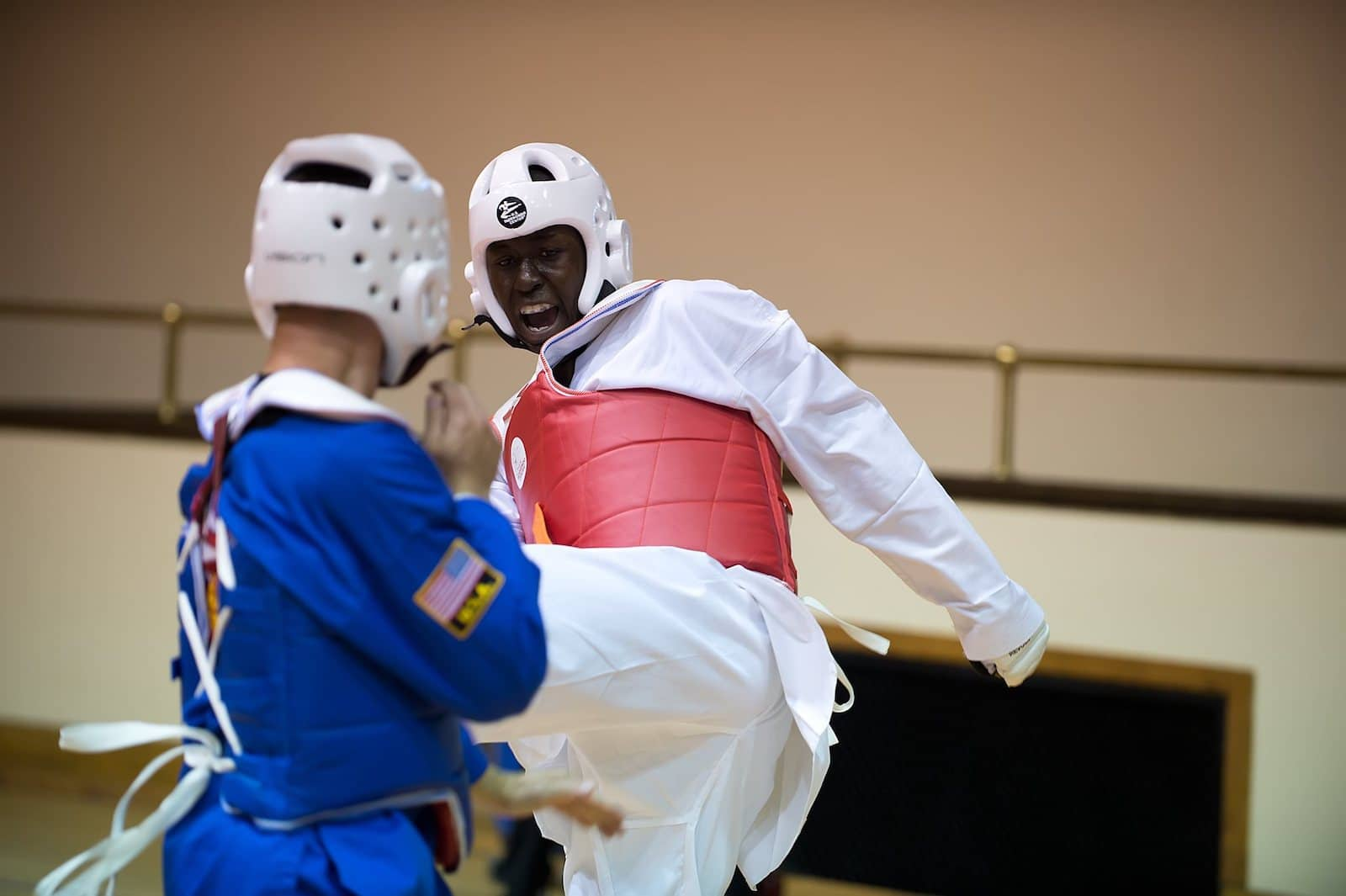 Image of a Tae Kwon Do competition at the Rocky Mountain State Games in Colorado Springs, CO