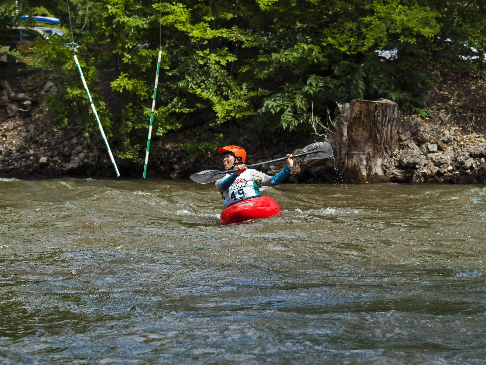 Image of a kayaker at Royal Gorge Whitewater Festival in Canon City ,CO