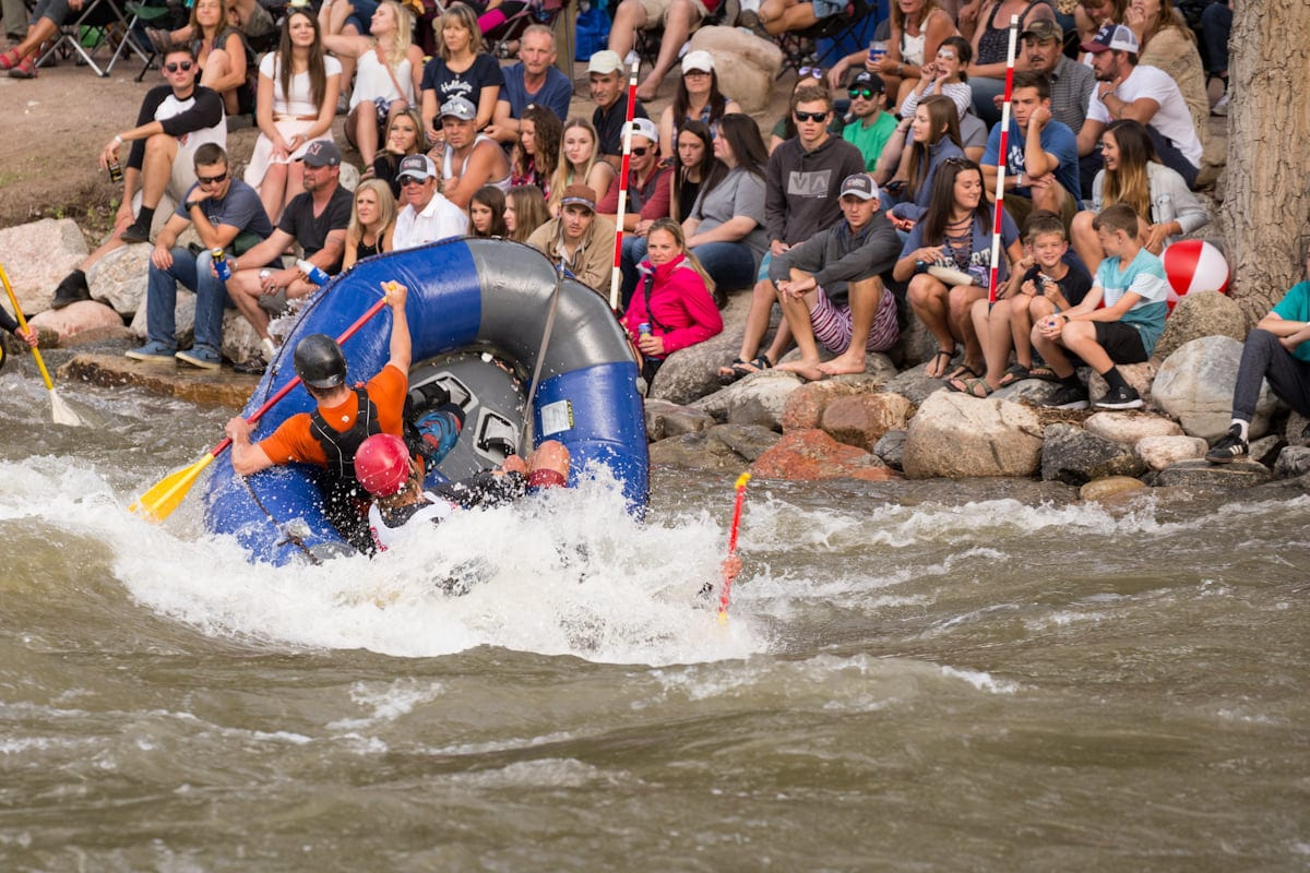 Image of rafters at the Royal Gorge Whitewater Festival in Canon City