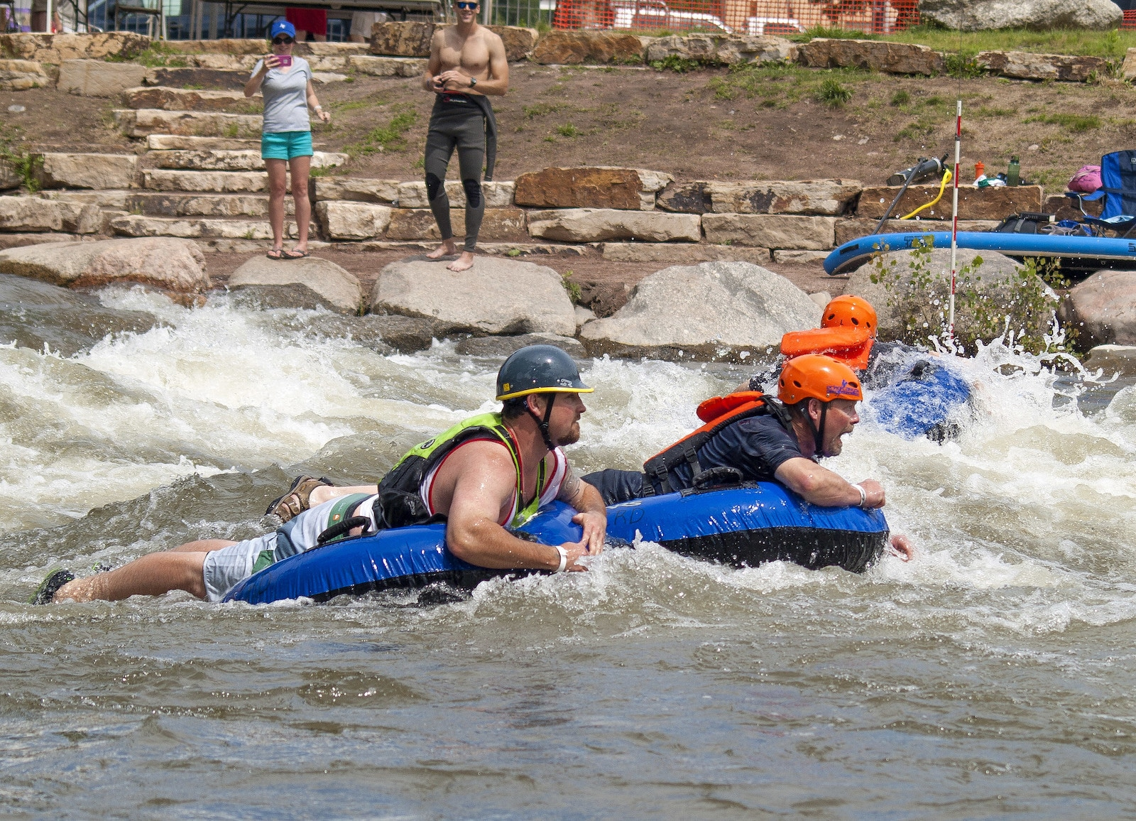 Image of tubers at the Royal Gorge Whitewater Festival in Canon City, CO