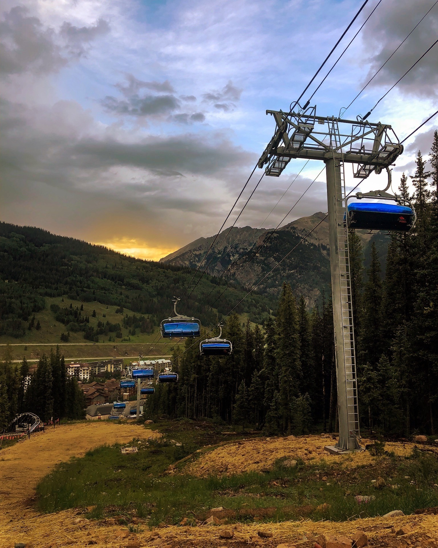 image of chairlifts at Copper Mountain