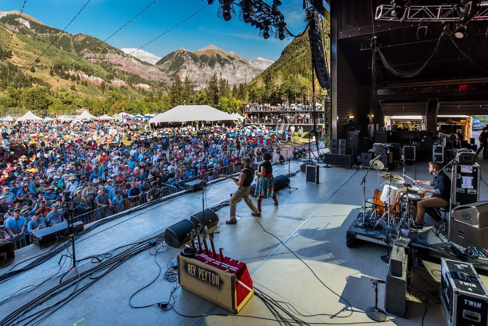 Image of the stage at Telluride Blues & Brews Fest in Colorado