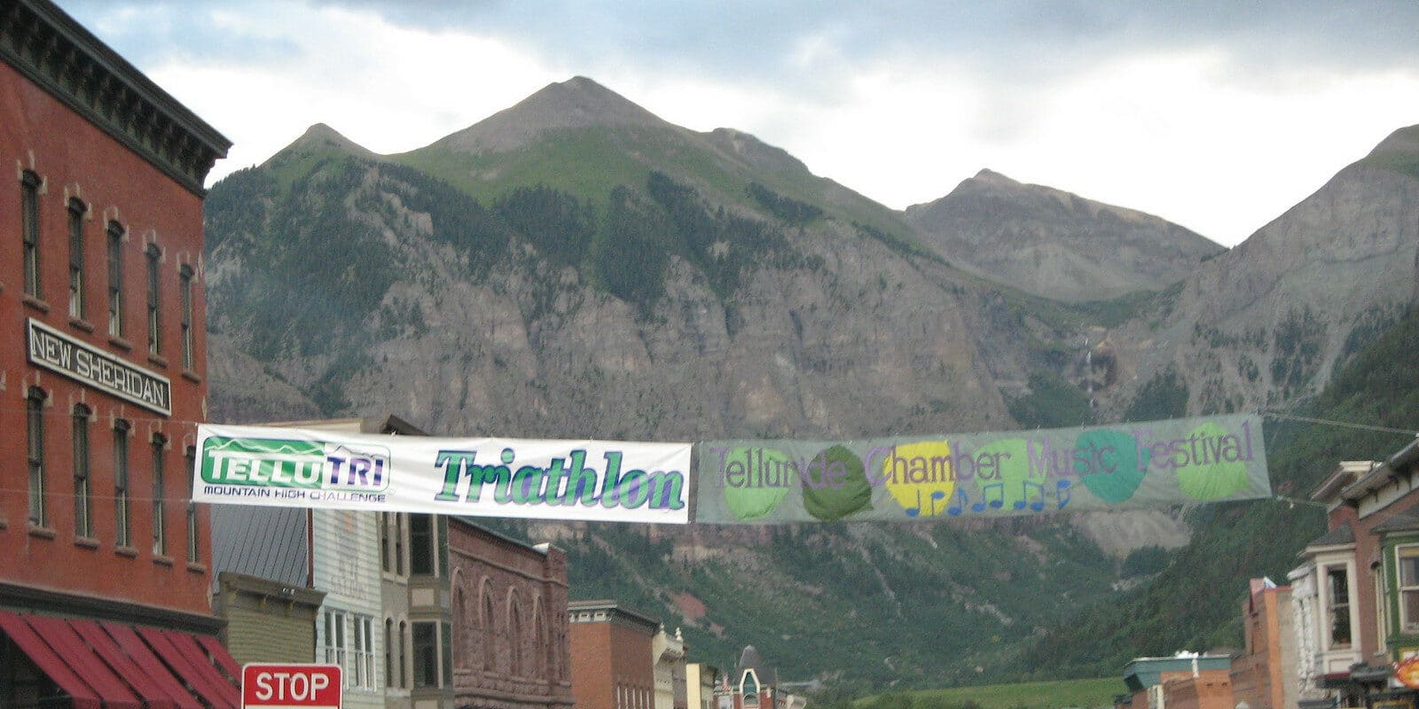 Image of the Telluride Chamber Music Festival sign