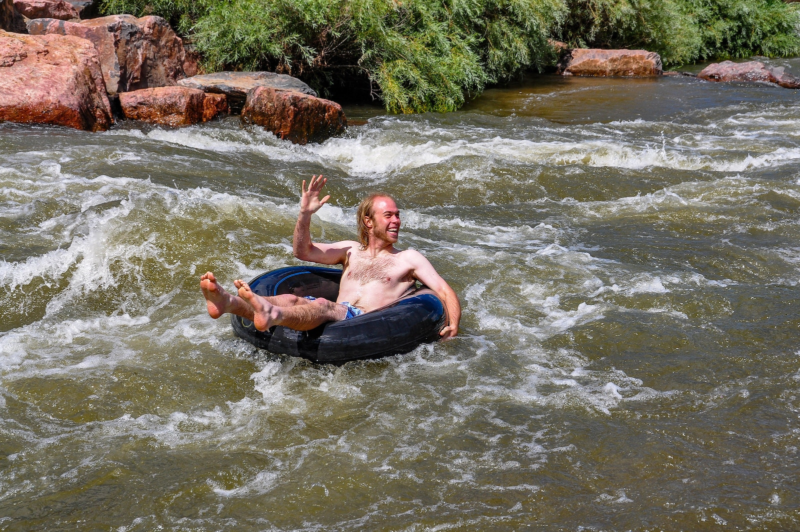 Image of a tuber at Confluence Park in Denver, Colorado