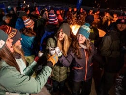 Image of people drinking at Vail's Snowdays concert event in Colorado