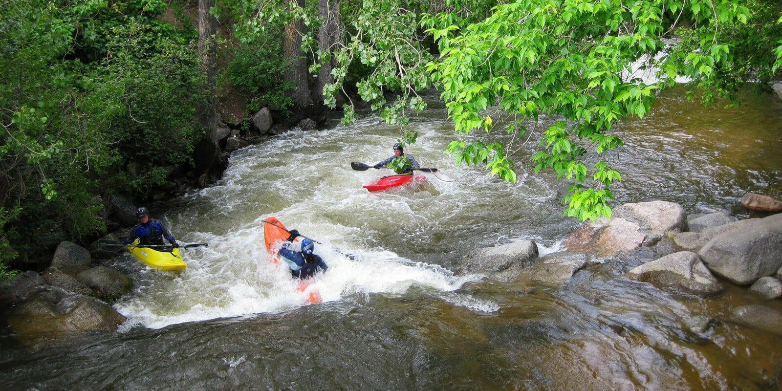 Image of people kayaking