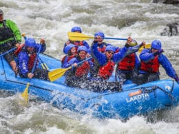 Image of people whitewater rafting in Colorado