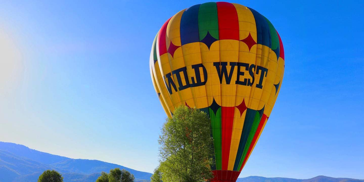 Image of a hot air balloon from Wild West Balloon Adventures in Steamboat Springs, CO