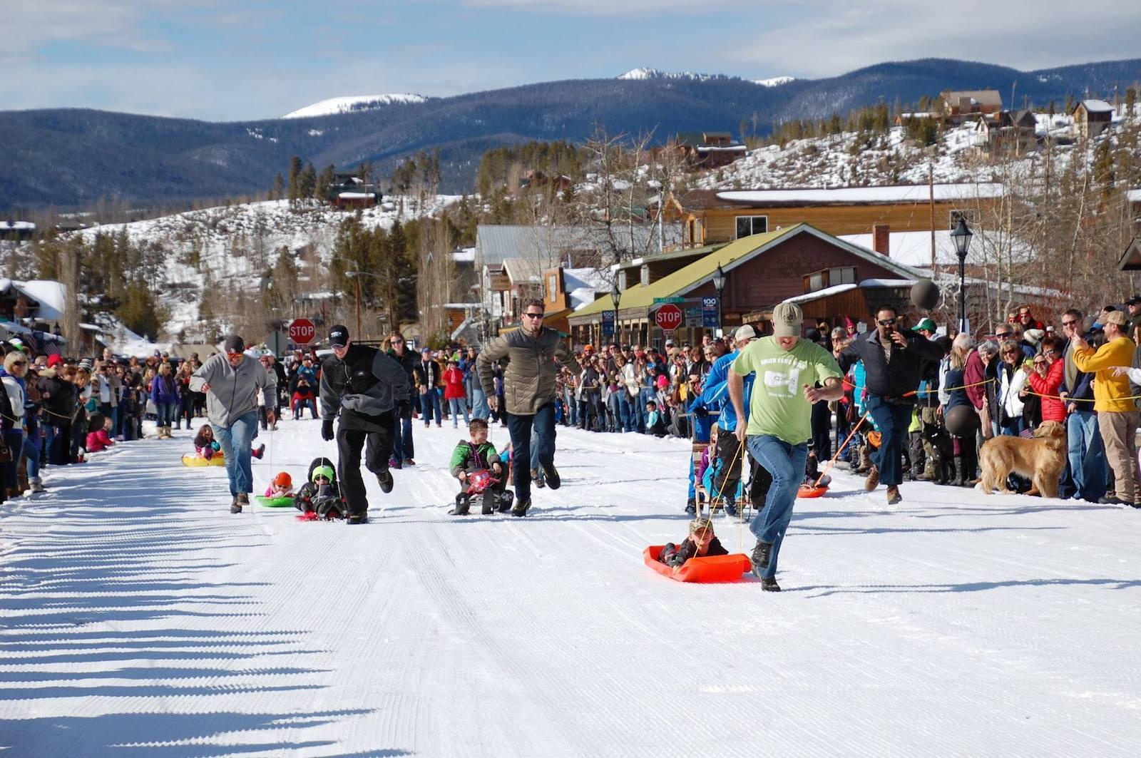 Image of people participating in the Winter Carnival in Grand Lake, Colorado