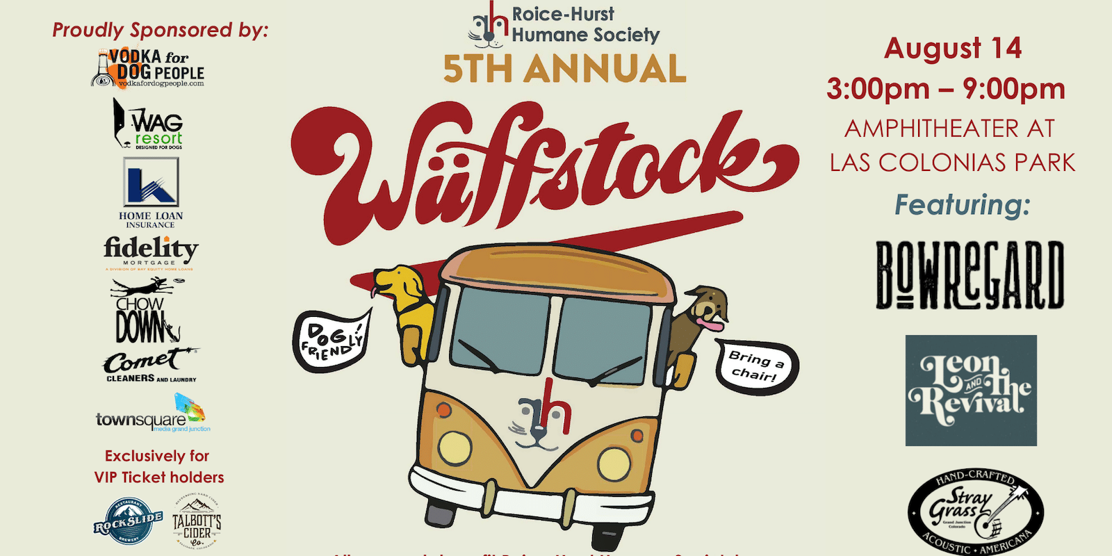 Image of the Wuffstock Music Festival information poster