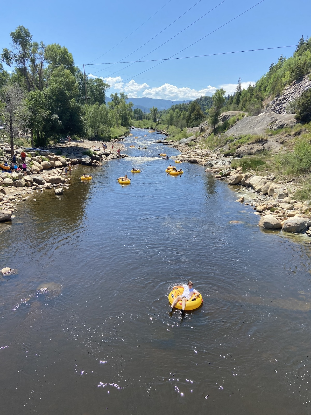 Yampa River Tubers Steamboat Springs CO