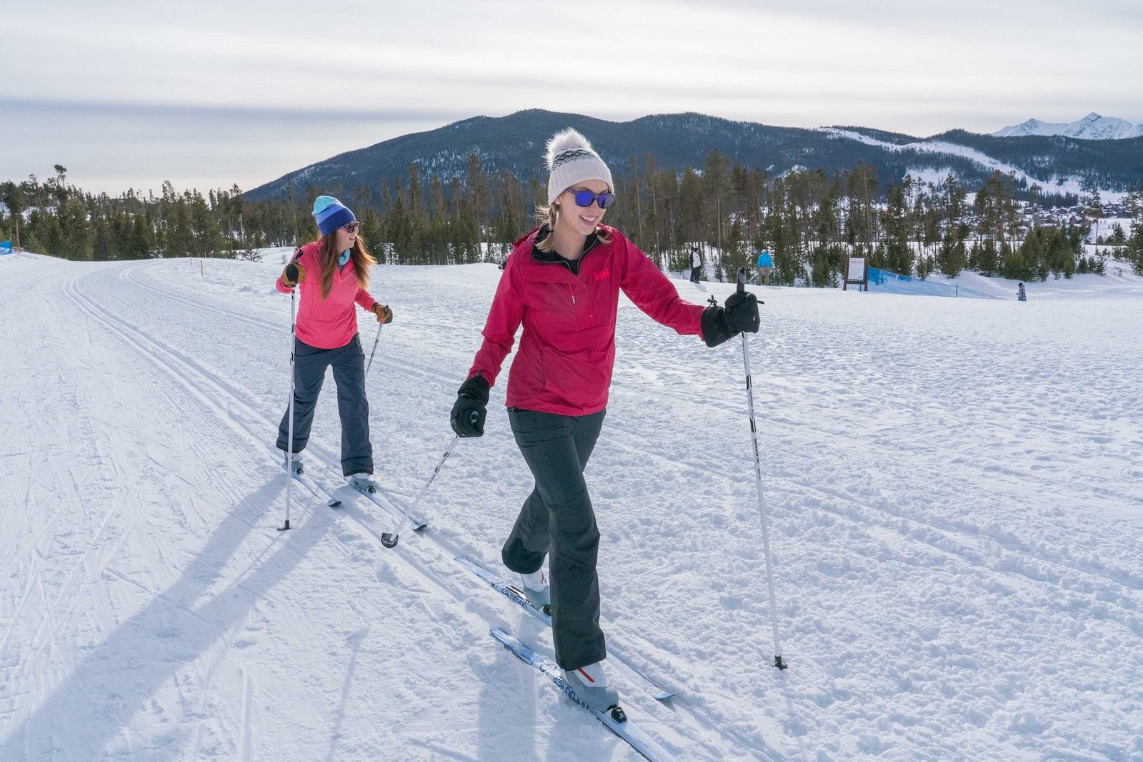 Cross country skiing at Keystone resort, CO