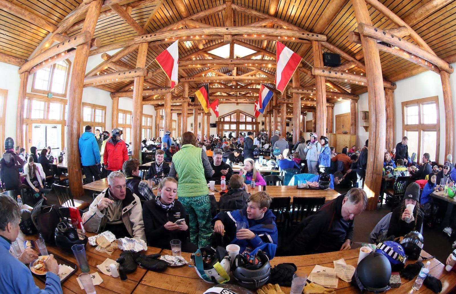 Dine at Alpenglow Stube