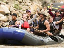 Image of people rafting at Animas River Days in Durango, Colorado