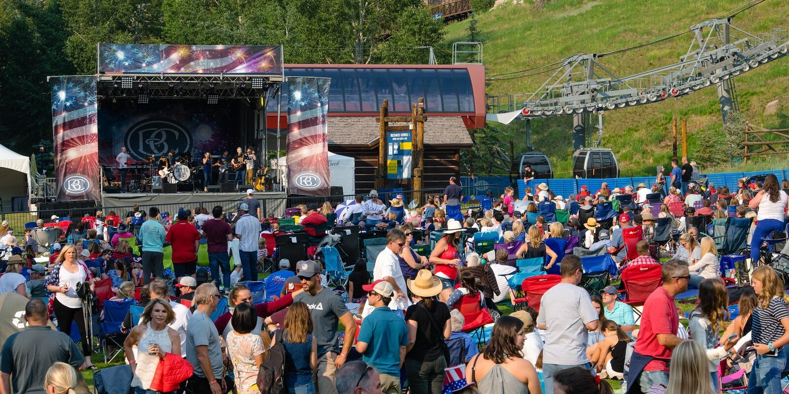 Image of people enjoying July 4th together in Beaver Creek, Colorado