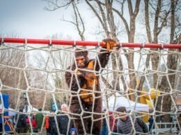 Image of Bigfoot going over an obstacle at Bigfoot Days in Estes Park, Colorado