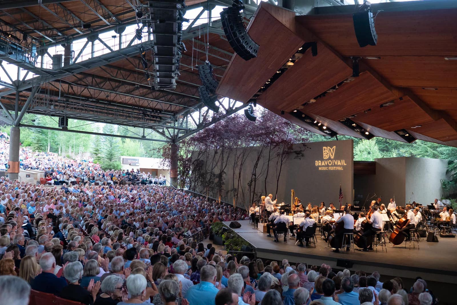 Image of the audience at the Bravo! Vail Music Festival in Colorado