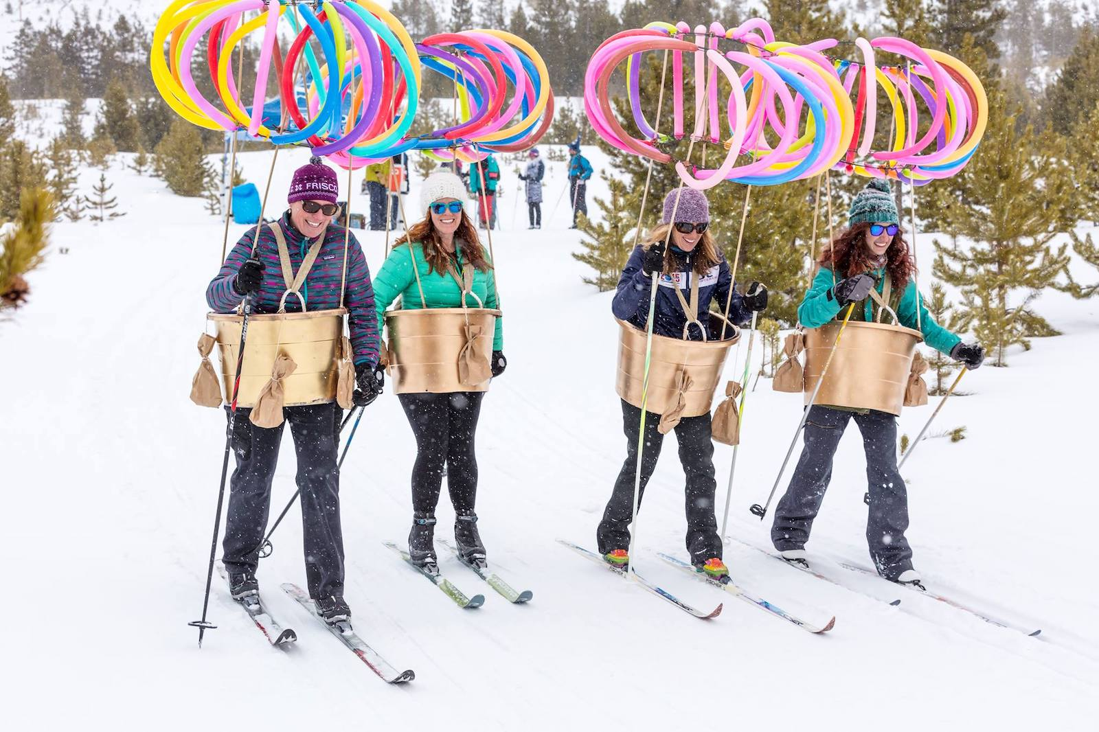 Image of people in costumes for Brewski in Frisco, Colorado