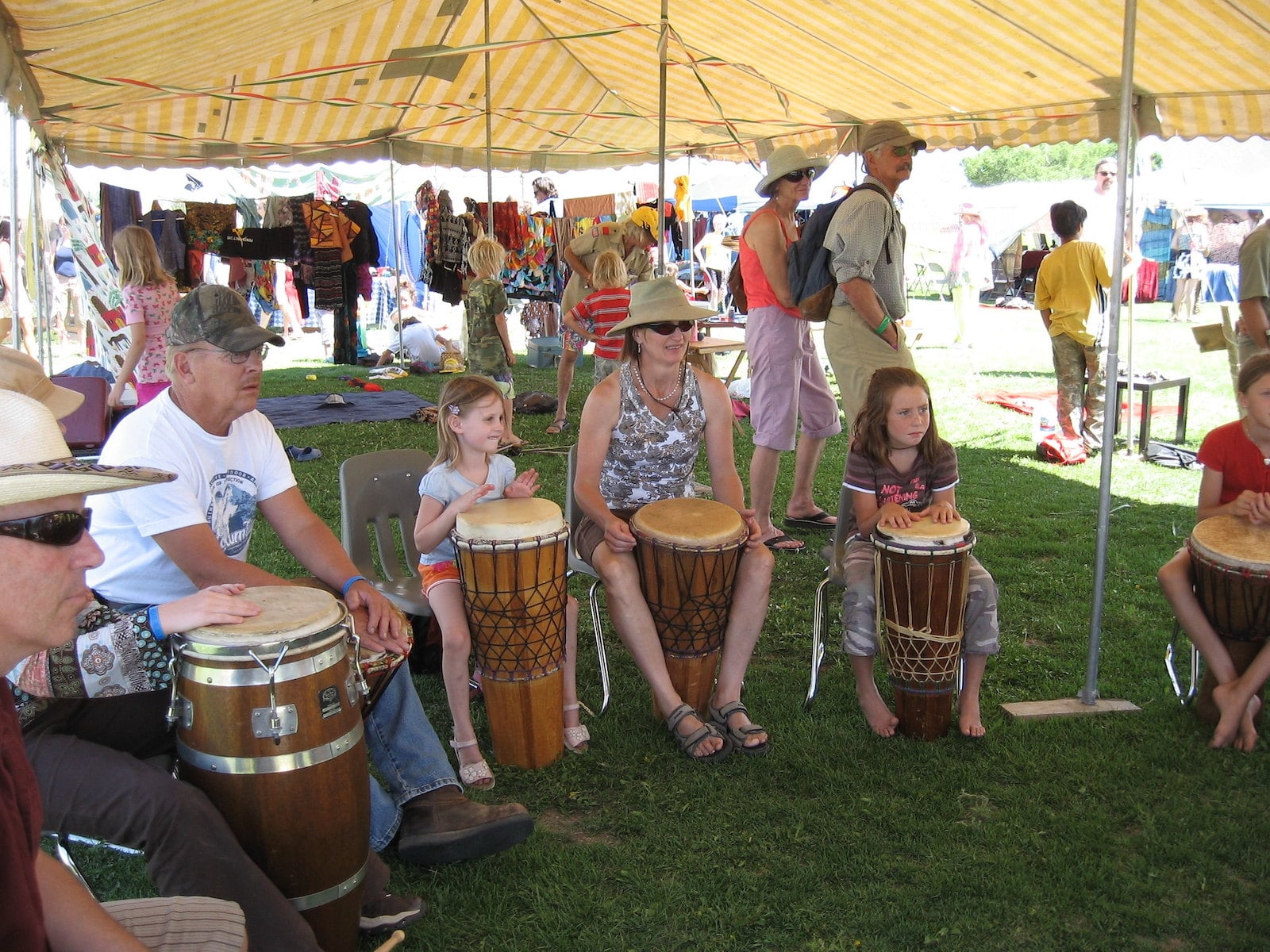 Image of people playing instruments at the Crestone Music Festival in Colorado