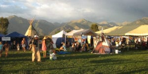Image of people at the Crestone Music Festival in Colorado
