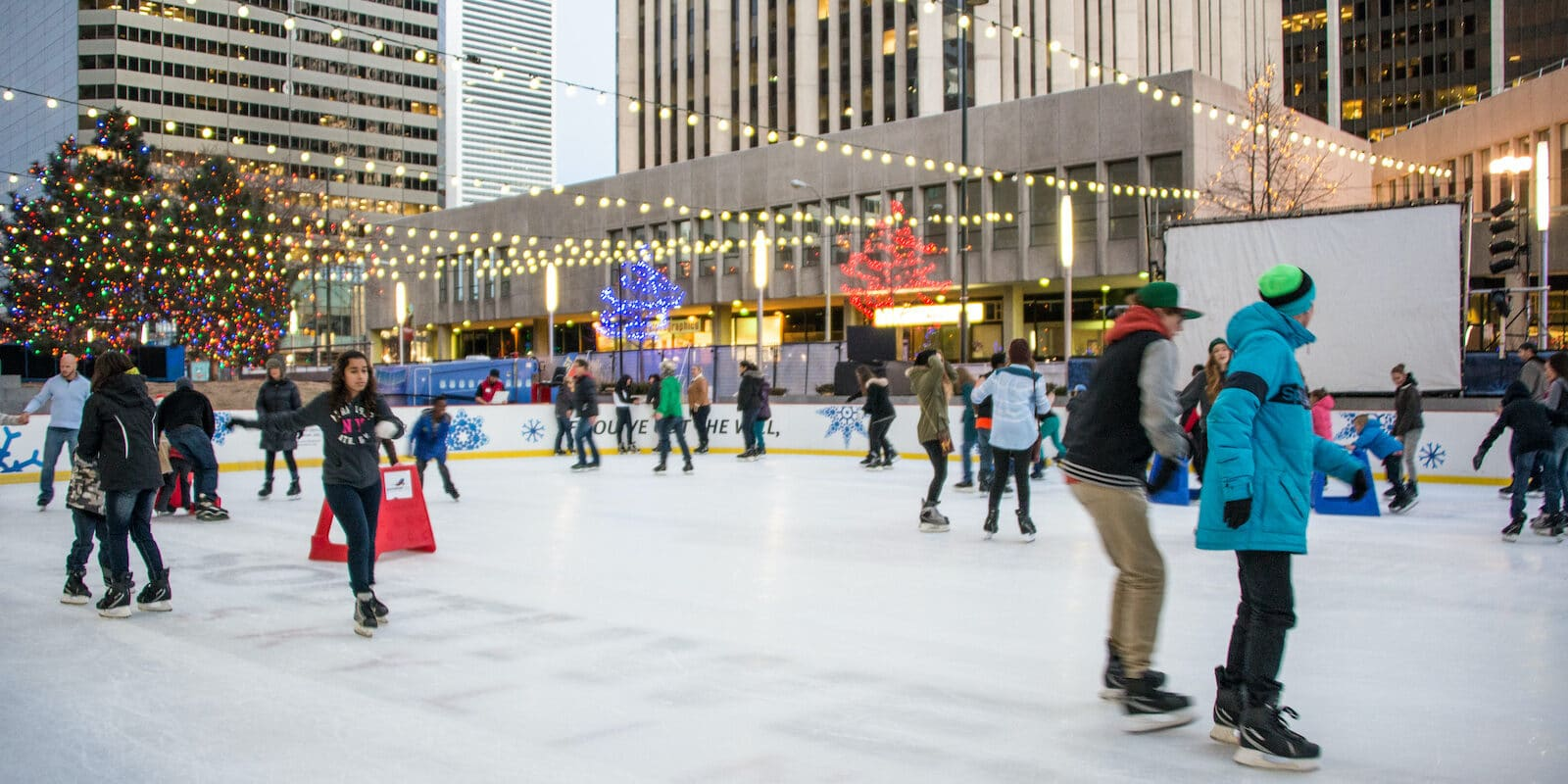 Downtown Denver Ice Skating at Skyline Park