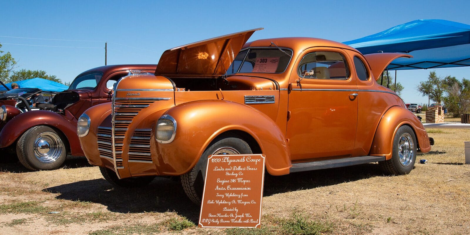 Image of a 1939 Plymouth Coup at the Friend of Raymer Car Show in Colorado