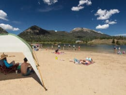 Image of people at a beach in Frisco, Colorado