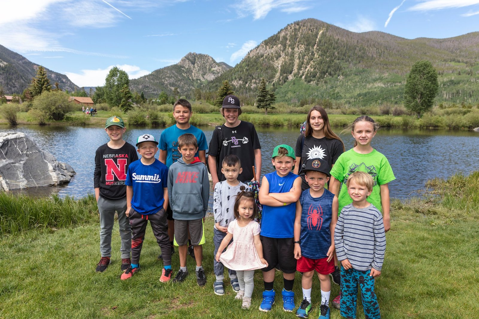 Image of kids by a lake in Frisco, CO