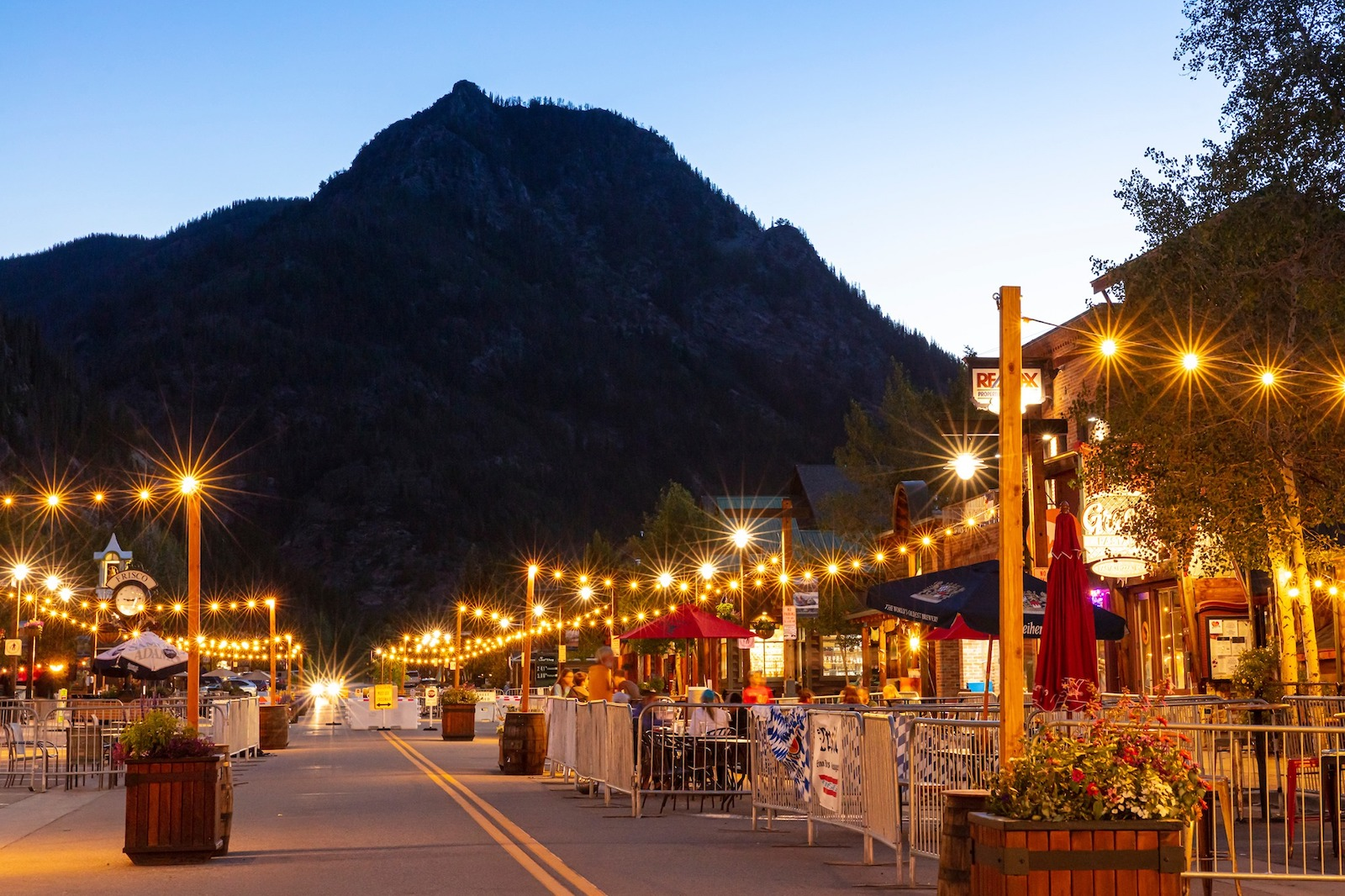 Image of Frisco, Colorado at sunset