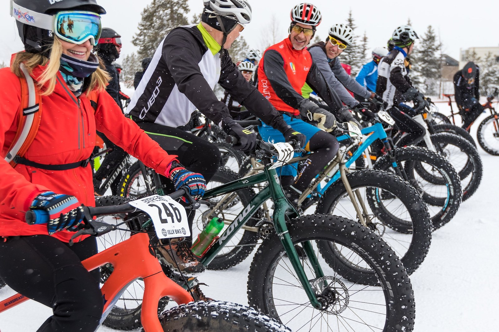 Image of people at the Frisco Freeze Winter Fat Bike Race in Colorado