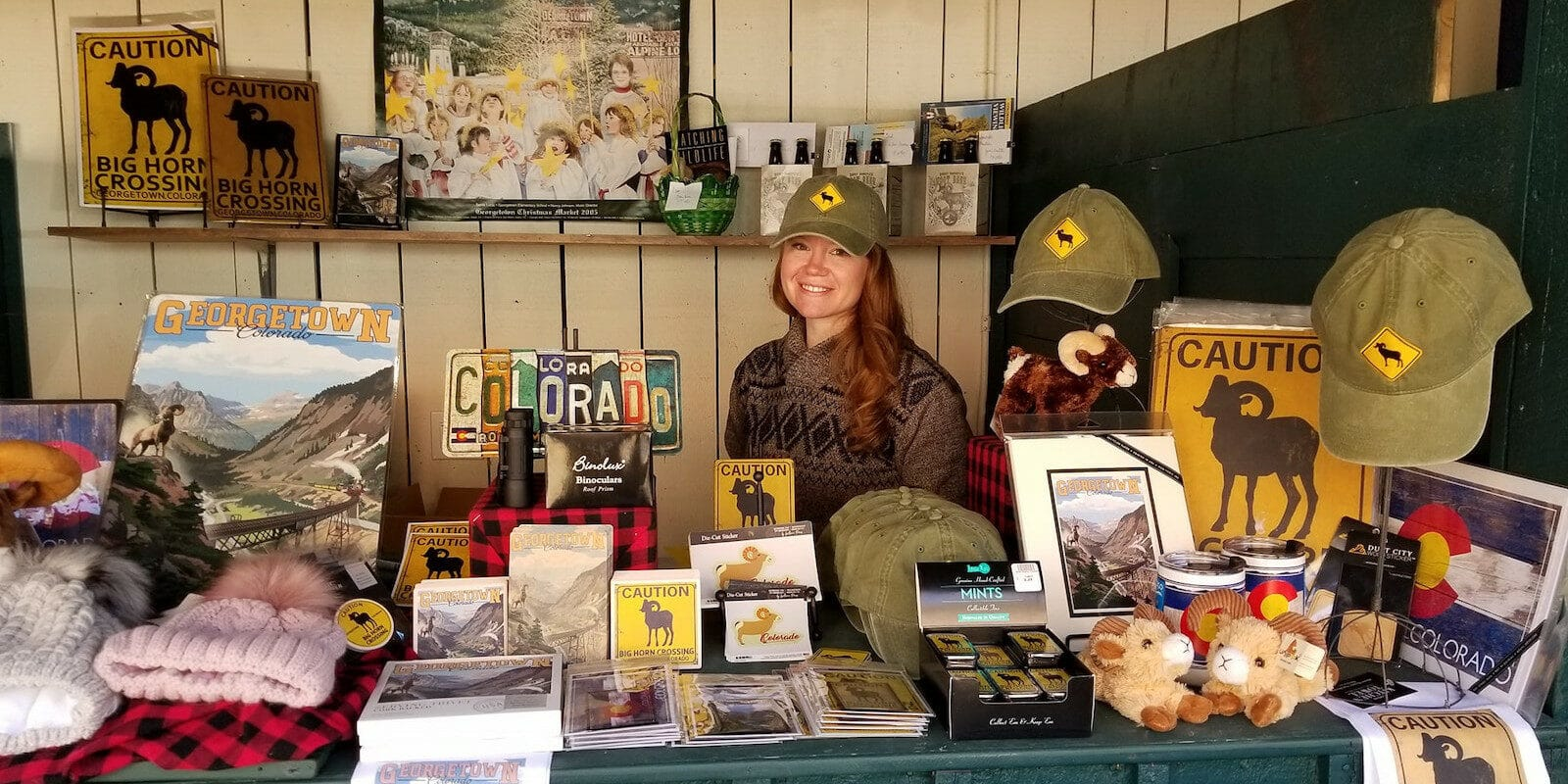 Image of a vendor at the Georgetown Bighorn Festival in Colorado