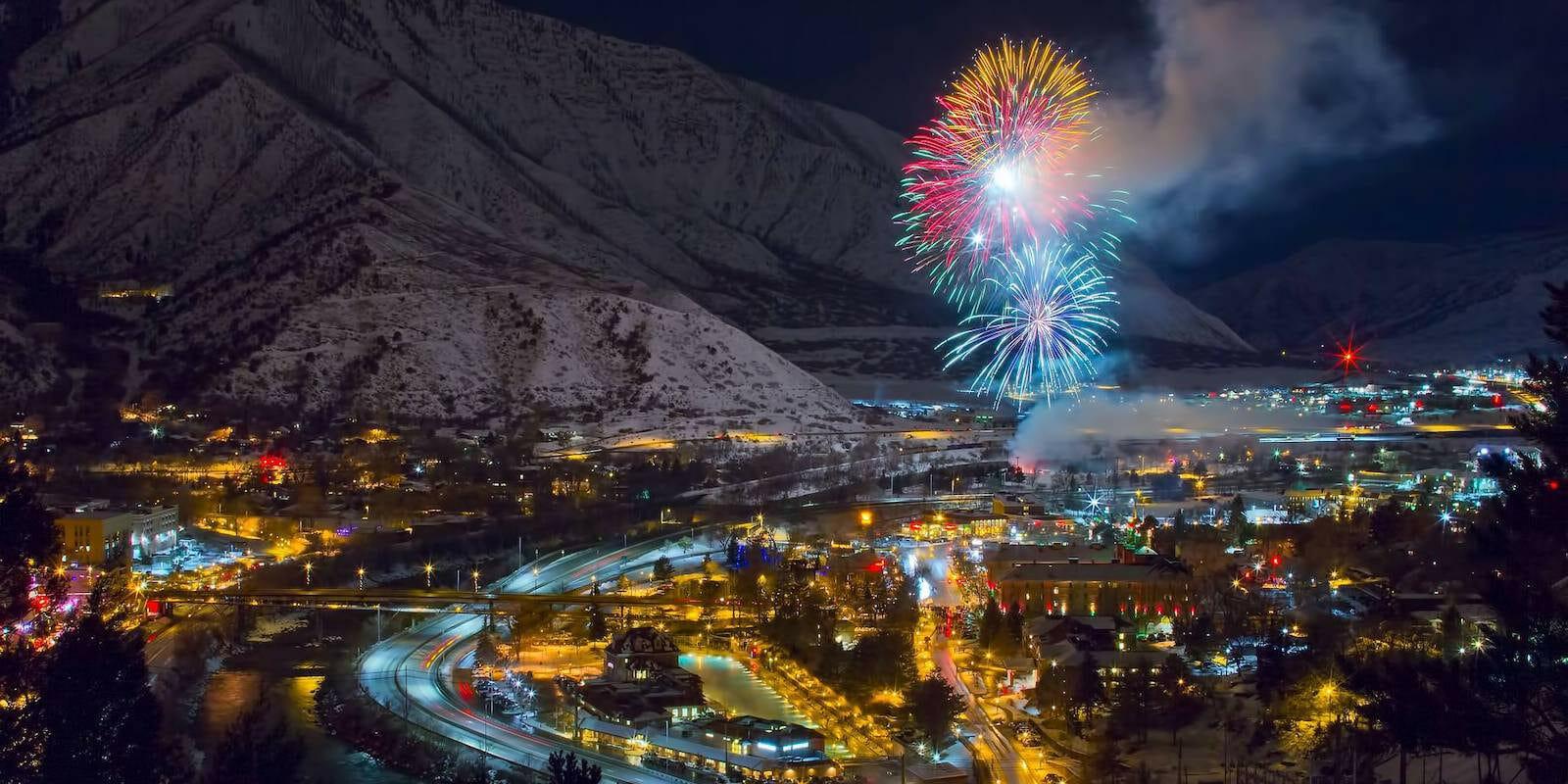 Image of fireworks over Glenwood Springs