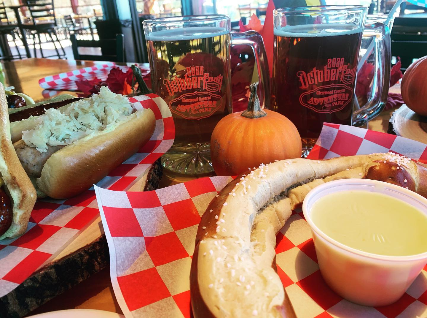 Image of food and beer from Glenwood Springs Octoberfest in Colorado