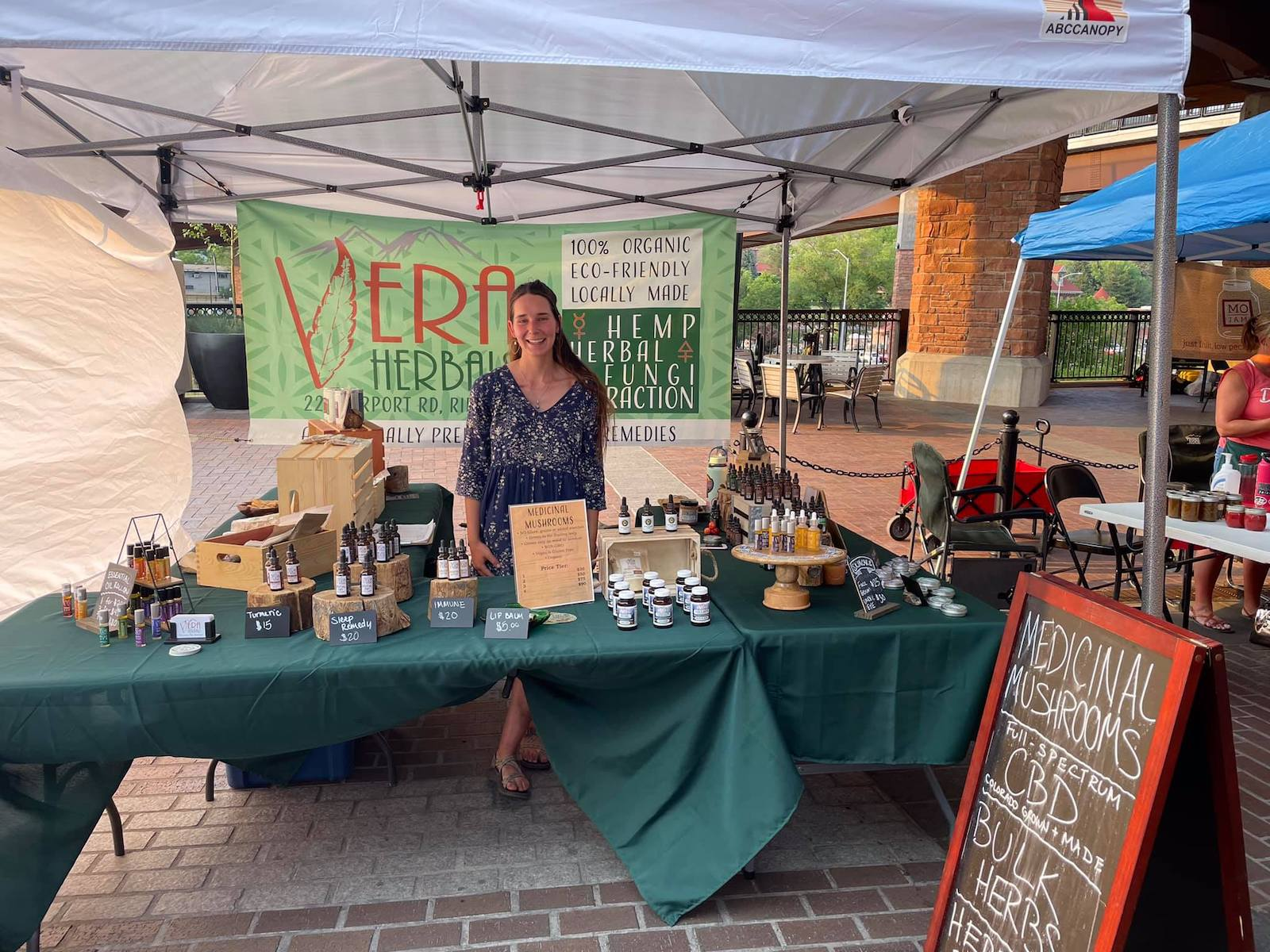 Image of a vendor at Glenwood's Downtown Market and Music Series in Colorado