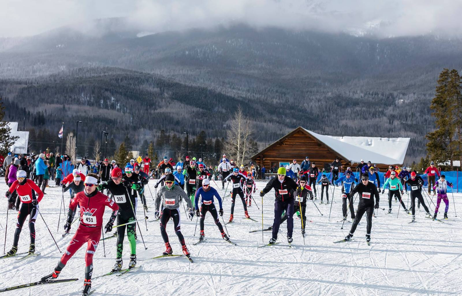Image of skiers at the Gold Rush Nordic Races in Frisco, Colorado