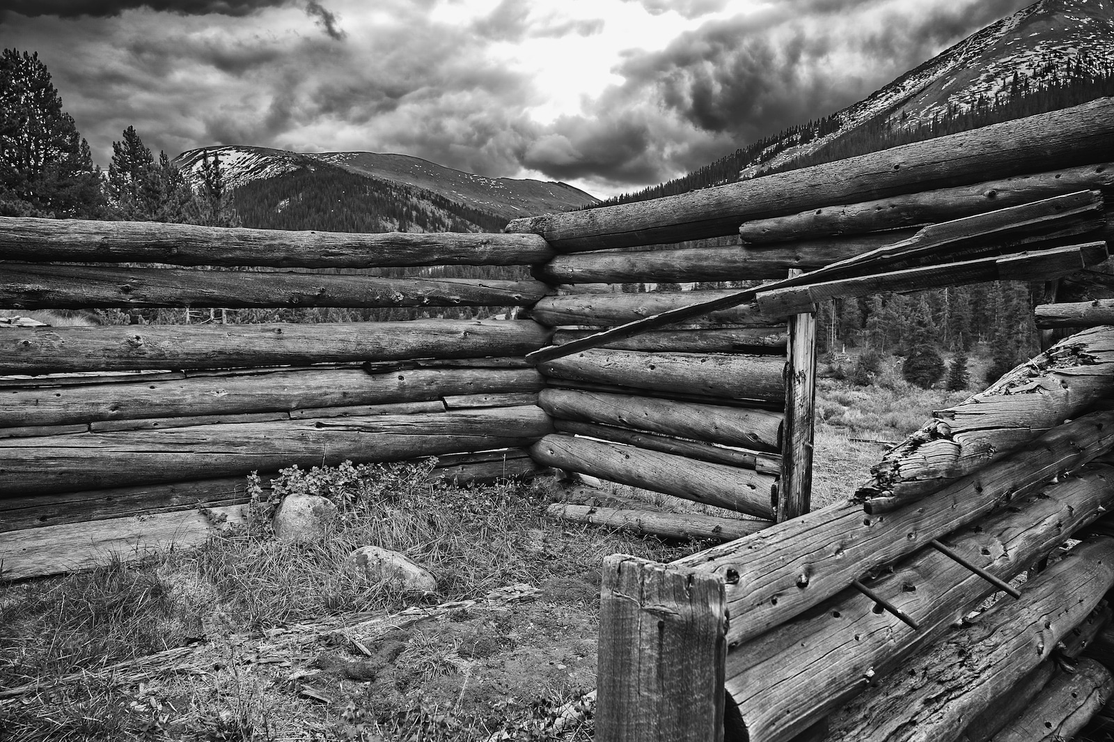 Independence Ghost Town Log Cabin near Aspen Colorado